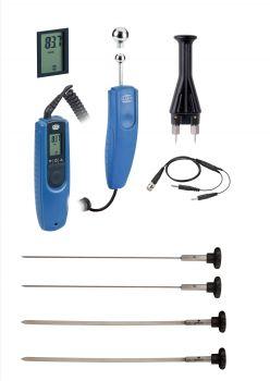 GANN Hydromette BL Compact E (blaue Serie) Set 7 mit M20, B 55 BL, Flachelektroden und Einsteckelektroden, Koffer, Messkabel - 12307